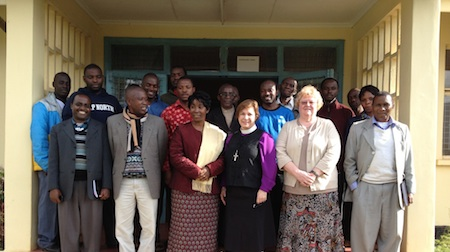 With Vice Chancellor Dr. Anneth Munga, students and faculty at SEKOMU.