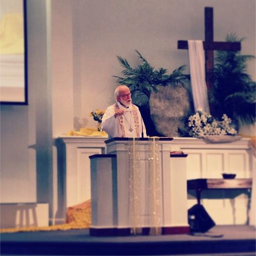 Hanson preaching
