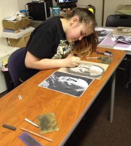 Drawing class in RTP's Hoffman Art Program.