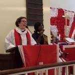 Bishop Burkat preaching at Kana Church.