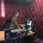 Studios of the new radio station.
