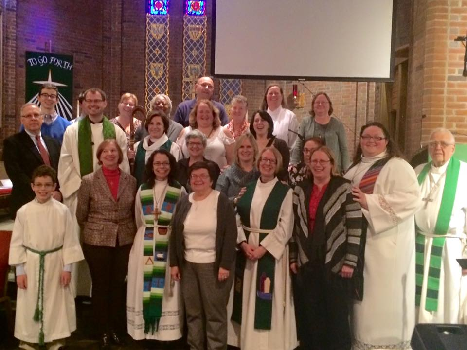 Worshippers posed for a picture after the service.