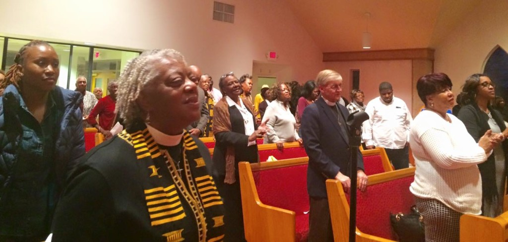 Worshippers filled Reformation, Mt. Airy, for the annual Martin Luther King Day service.