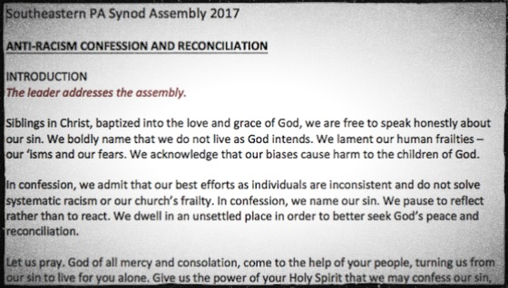 Anti-Racism Confession and Reconciliation