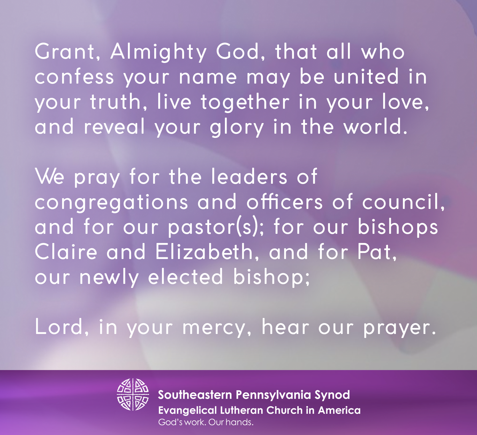 MinistryLink | Prayer for Bishop-elect and Church Leaders