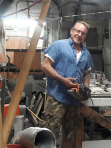 Chuck Pukanecz in his workshop.