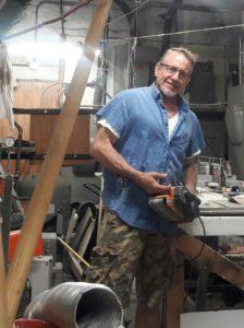 Chuck Pukanecz in his workshop.