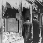 Shop damaged during Kristallnacht