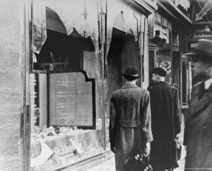 Shop damaged during Kristallnacht