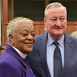 Bishop with Mayor Kenney